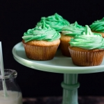 Irish Vanilla Cupcakes with Bailey's Buttercream Frosting