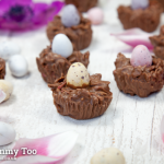 Crunchy chewy  chocolate nests for Easter