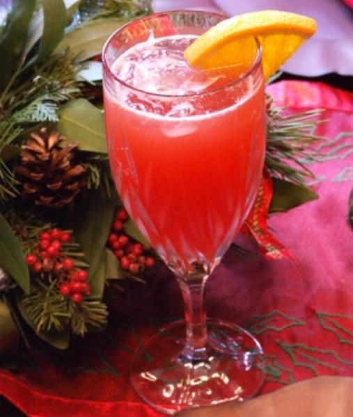 Christmas Cranberry Mimosas!