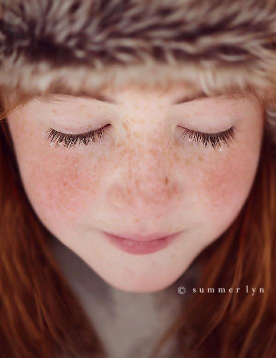 snowflakes and eyelashes!