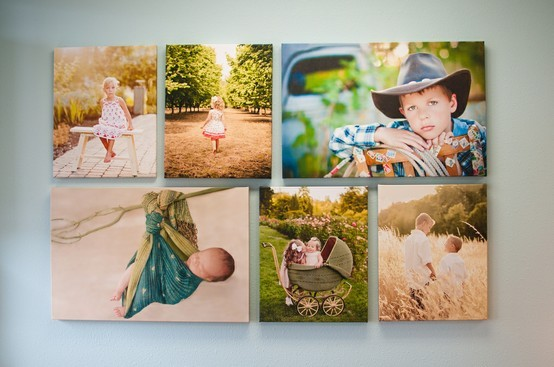 Two 20×30's and four 16×20's. #grouping #wall #canvas #photography studio #wall inspiration