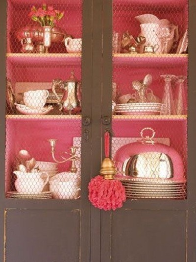 makes a beautiful contrast! Paint the inside of the cabinet