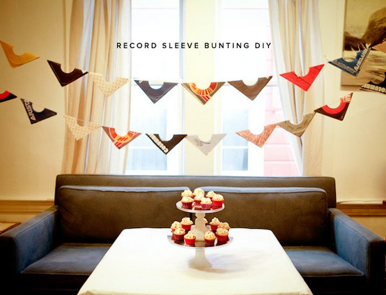 record sleeve bunting