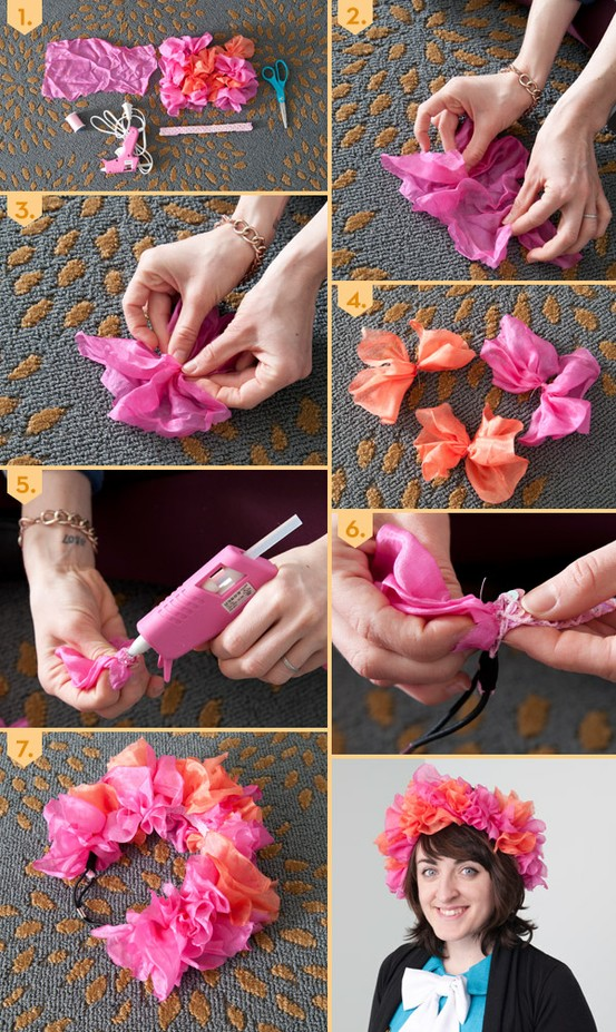 A simple headband is a base for an amazing headpiece! #DIY #floral