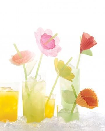 floral straws/cupcake liners | martha stewart