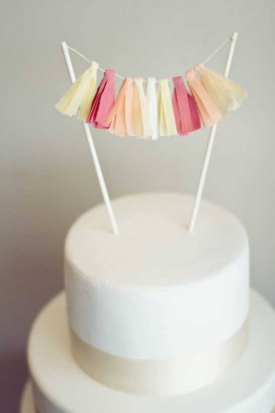 tassel garland cake topper