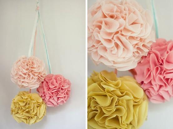 fabric pompoms
