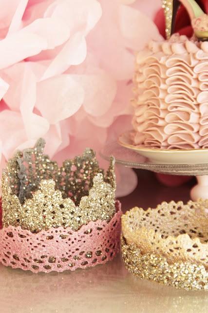 lace crowns… adorable diy idea…