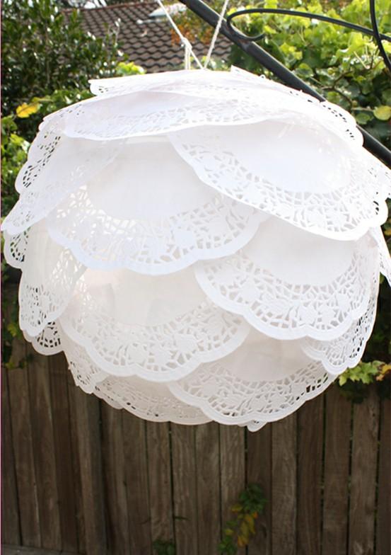 paper doily lantern