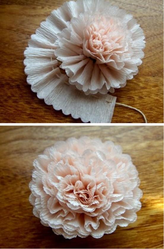 Crepe paper flower 1