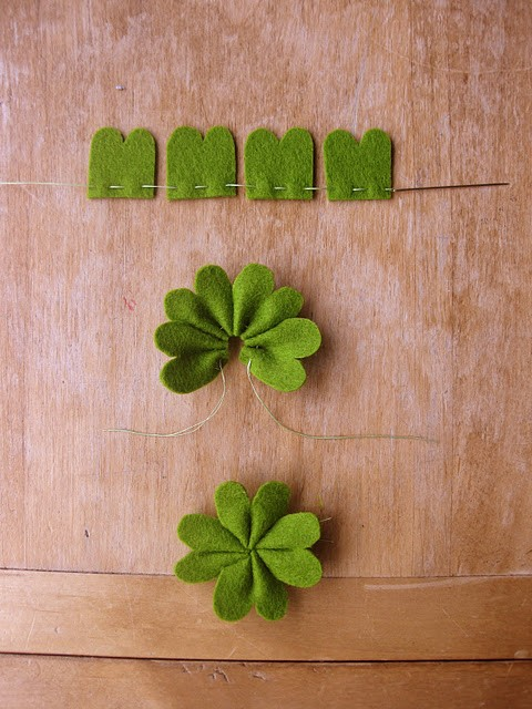 Shamrock garland how-to