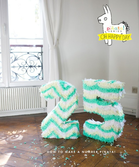 number pinatas diy