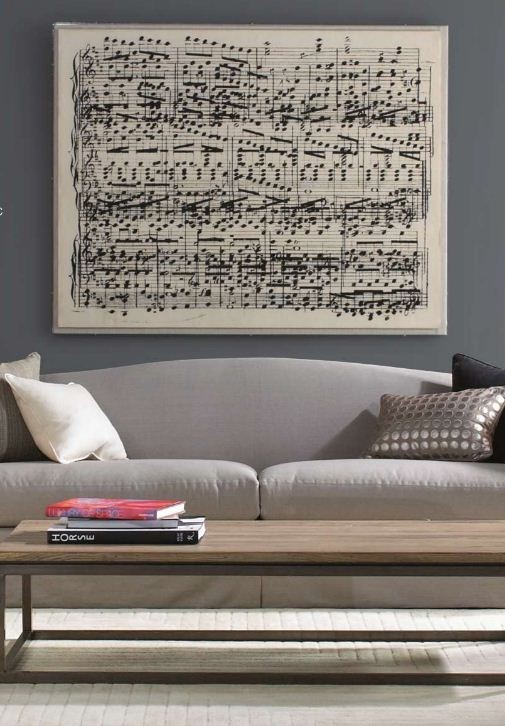 Awesome idea… Take your favourite song and create an oversized sheet music print!