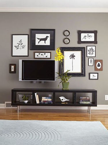 Now that it is a cool way to display a flat screen TV…among art/prints