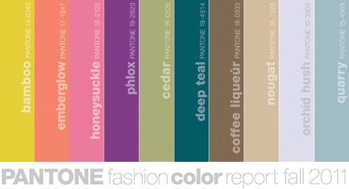 Pantone's color forecast for fall 2011