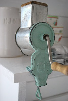 Mom used a meat grinder — it screwed onto the side of the counter just like this….vintage kitchen utensil