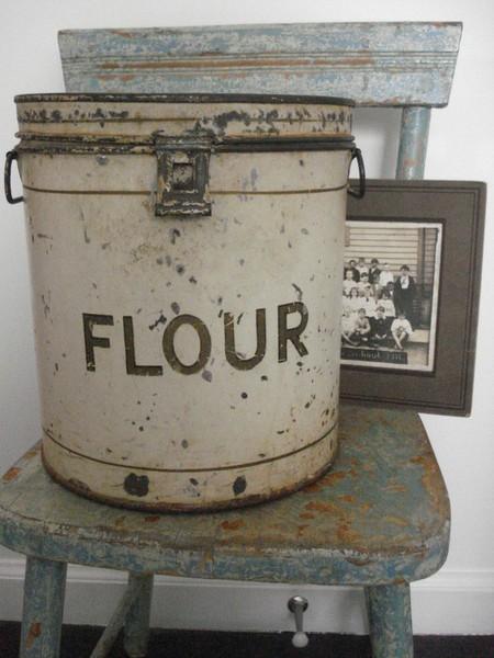 Vintage flour can