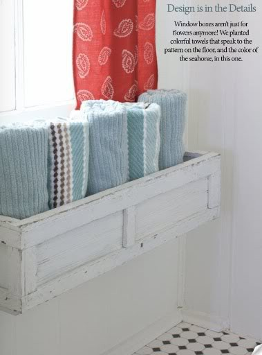 Window boxes for towels
