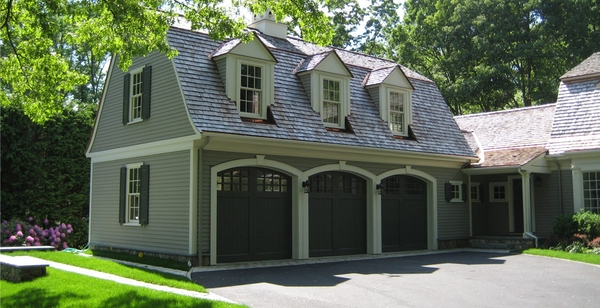 Garage doors roof lines dormers patrick ahearn for Garage with dormers