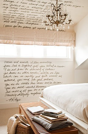 handwriting on the wall–oh, I so want to do this