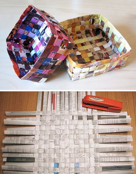 DIY: Cool Magazine Baskets