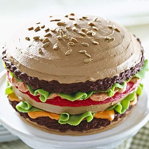 How To Make a BIG Burger Birthday CakeApplePinscom