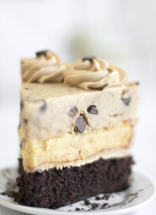 Chocolate Chip Cookie Dough Devil's Food Cake Cheesecake...say no more...