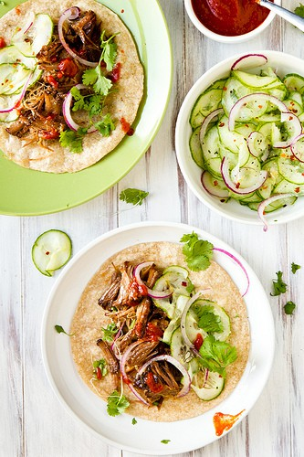 Korean beef tacos with cucumber slaw – Confections of a Foodie Bride