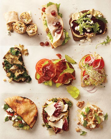Thirty sandwich combos by Martha Stewart