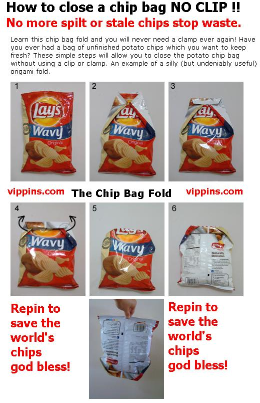 How To Close Your Chip Bag With NO CLIP !!!