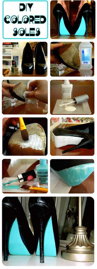 DIY Colored Soles Make Your Pumps New Again