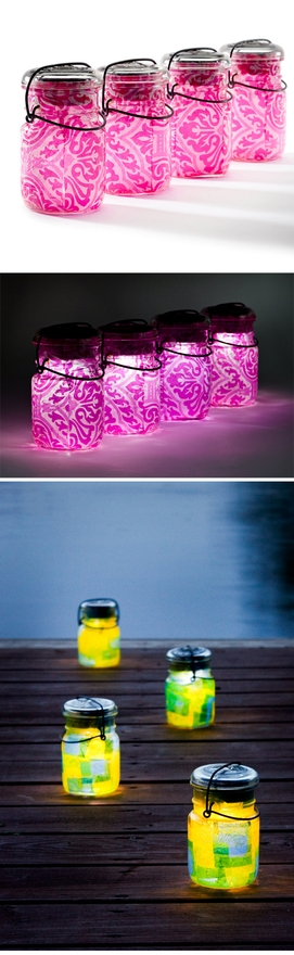 Mason Jar Glowing Party Lights For Summer NO Flame!!
