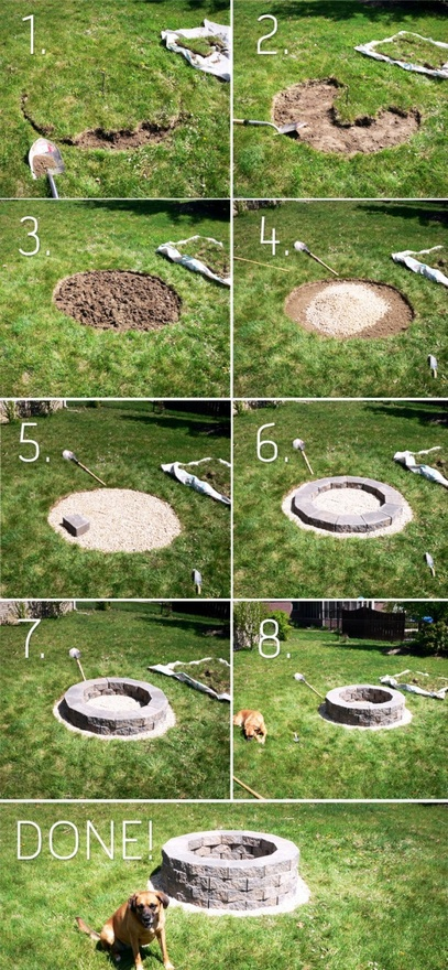 Easy Diy Backyard Fire Pit : Easy DIY Backyard Fire pit for summerApplePinscom