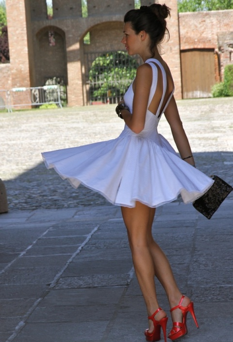 Gorgeous Heels…Darling Summer White Dress