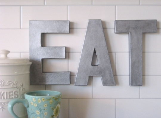 DIY Zinc Letters For Your Kitchen or Living Space