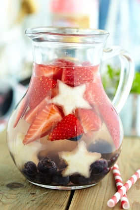 Red White and Blue Sangria 4Th July Party Idea