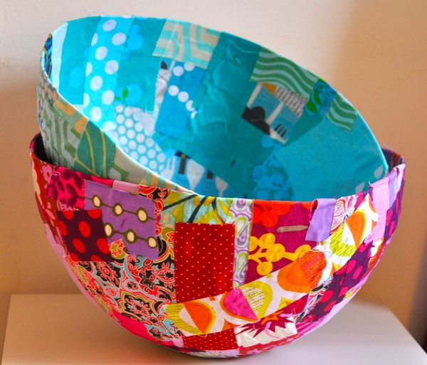 DIY Fabric Mache Bowls