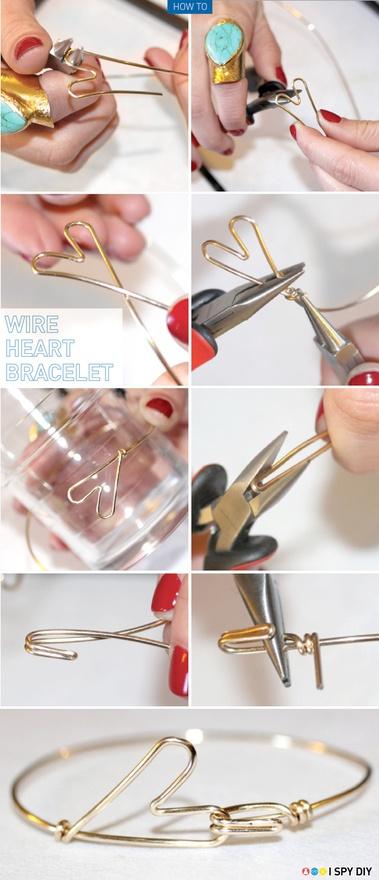 DIY: Heart Bracelet