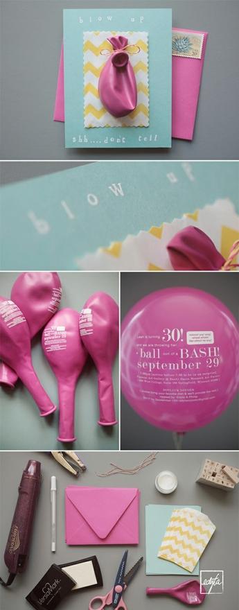 DIY Balloon Invitation Very Clever