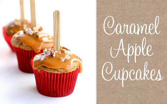 Caramel Apple Cupcakes!