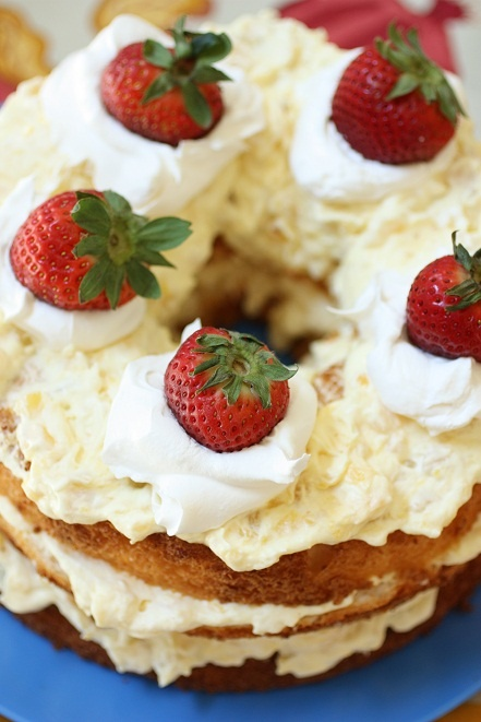 Pineapple strawberry shortcake