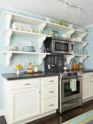 bluegreen kitchen