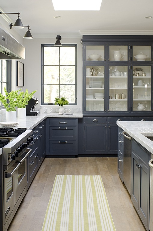 never thought of grey for a kitchen color but this is beautiful