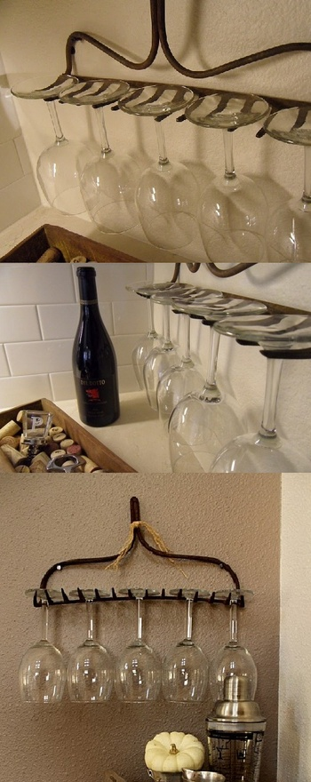 DIY Wine glasses holder…love this