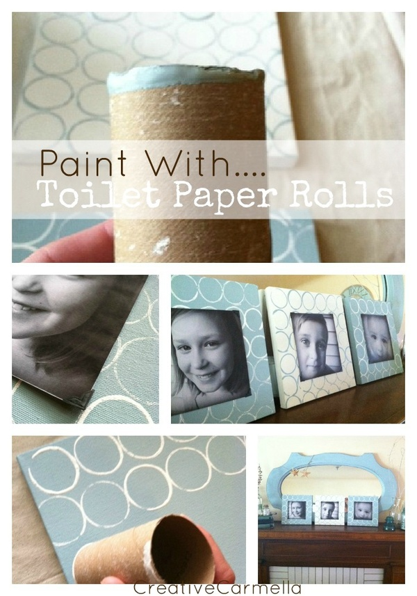 Painting with toilet paper for Painting toilet paper rolls