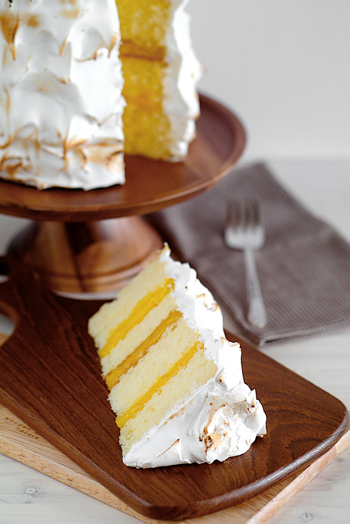 Lemon Layer Cake with 7-Minute FrostingApplePins.com