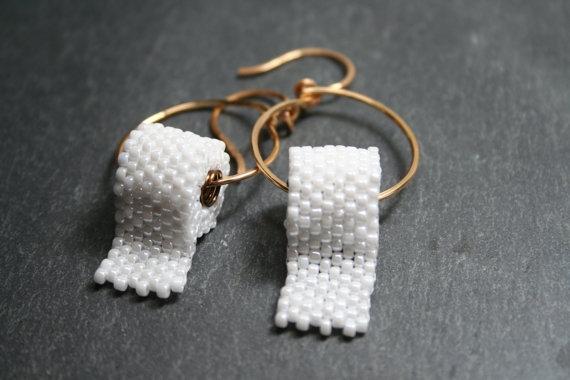 Cute Beaded Toilet Paper Earrings