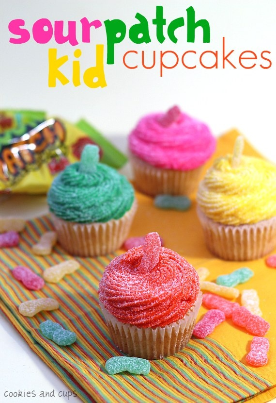 Sour Patch Kids Cup Cakes