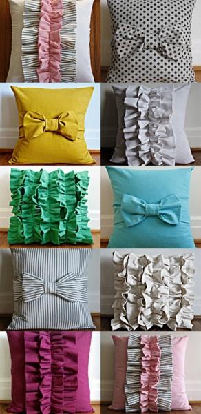 Lovely ruffled pillows!
