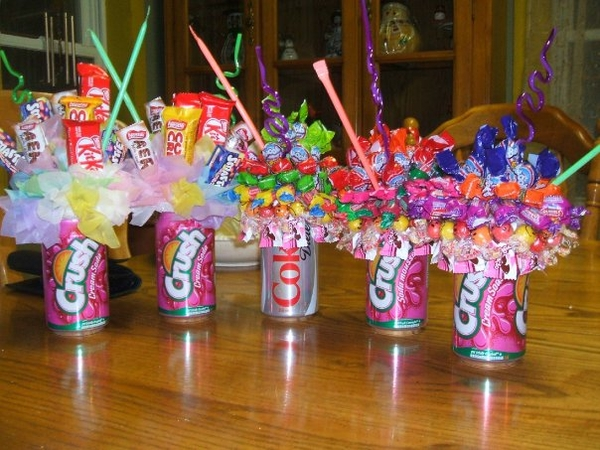 Candy and Soda Bouquets